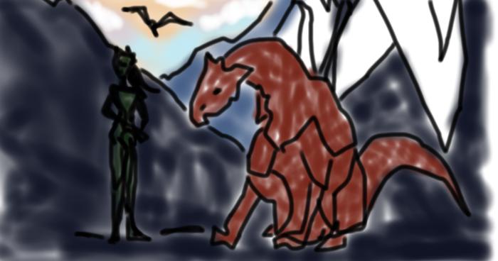 dragon mockup